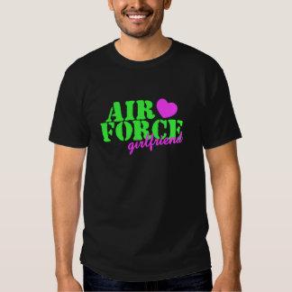 Air Force Girlfriend Lime Green T-shirts