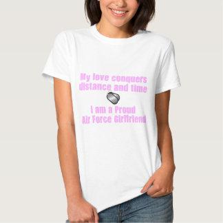 Air Force Girlfriend Love Conquers T Shirts