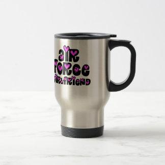 Air Force Girlfriend Pink Hearts Mug