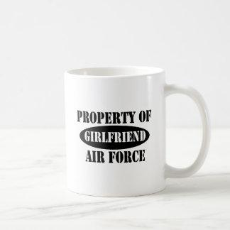 Air Force Girlfriend Property Basic White Mug