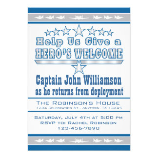 Air Force Hero s Welcome Home Invitation