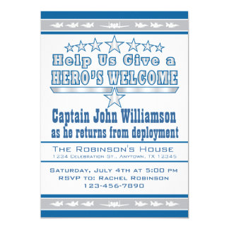 Air Force Hero's Welcome Home Invitation