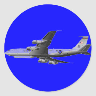 AIR FORCE JET AIRCRAFT CLASSIC ROUND STICKER