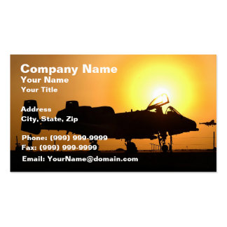 Air Force Jet Fighter Pack Of Standard Business Cards
