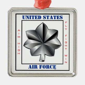 Air Force Lieutenant Colonel LTC O-5 Slogan Silver-Colored Square Decoration