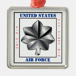Air Force Lieutenant Colonel LTC O-5 Slogan Silver-Colored Square Decoration