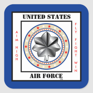 Air Force Lieutenant Colonel LTC O-5 Square Sticker