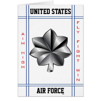 Air Force Lieutenant Colonel O-5 Lt Col Card
