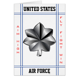 Air Force Lieutenant Colonel O-5 Lt Col Greeting Card
