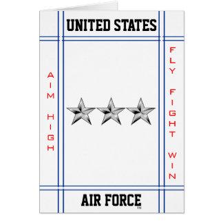 Air Force Lieutenant General O-9 Lt Gen Greeting Card