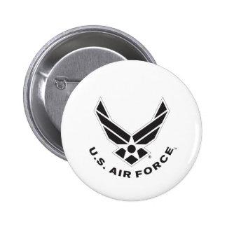 Air Force Logo - Black 6 Cm Round Badge