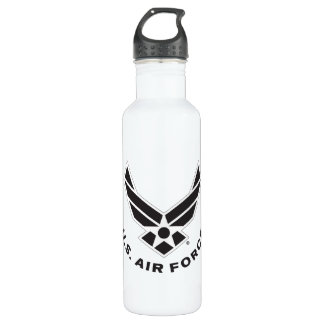 Air Force Logo - Black 710 Ml Water Bottle