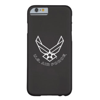 Air Force Logo - Black Barely There iPhone 6 Case