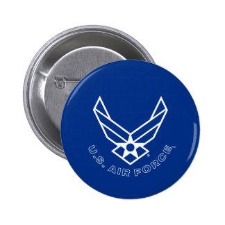 Air Force Logo - Blue 6 Cm Round Badge