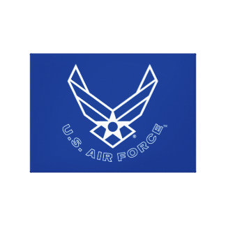 Air Force Logo - Blue Canvas Print