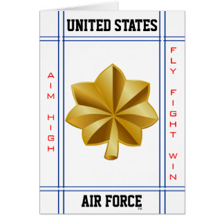 Air Force Major O-4 Maj Greeting Card