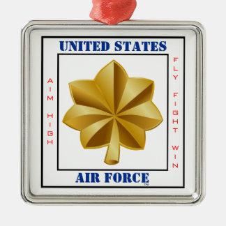 Air Force Major O-4 Slogan Silver-Colored Square Decoration