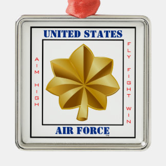 Air Force Major O-4 Slogan Silver-Colored Square Decoration