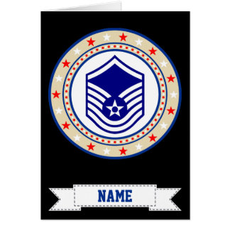 Air Force Master Sergeant MSgt E-7 Greeting Card