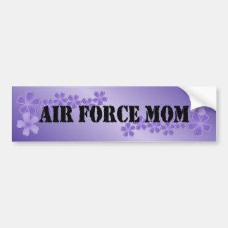 Air Force Mom Deep Lilac Hibiscus Bumper Sticker