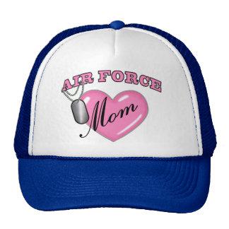 Air Force Mom Heart N Dog Tag Cap