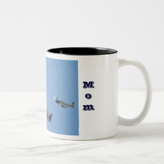 Air Force Mom Two-Tone Coffee Mug