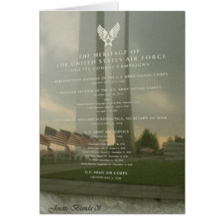 Air Force Monument Card