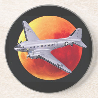 air force moon drink coaster
