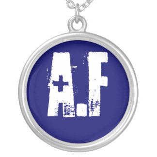 Air Force Round Pendant Necklace