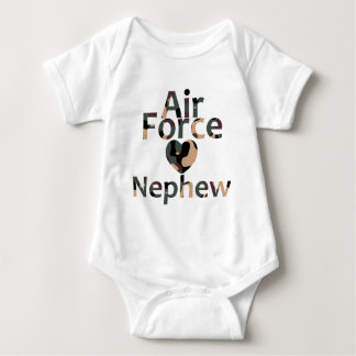 Air Force Nephew Heart Camo Baby Bodysuit