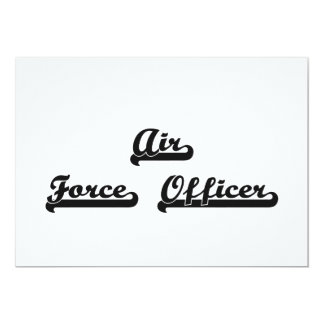 Air Force Officer Artistic Job Design 5x7 Paper Invitation Card