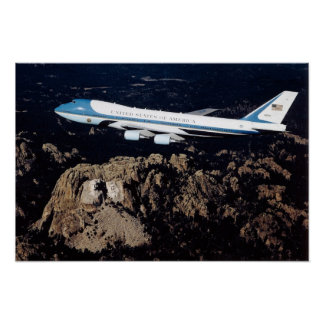 Air Force One Mount Rushmore Poster