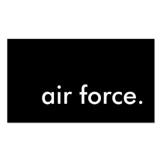 air force. pack of standard business cards