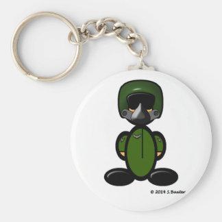Air Force Pilot (plain) Basic Round Button Key Ring
