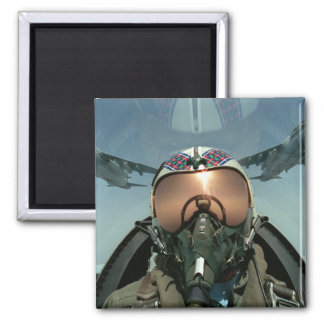 Air Force pilot Square Magnet