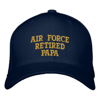 Air Force retired Papa embroidered cap