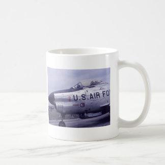 AIR FORCE SABRE JET F-86D BASIC WHITE MUG
