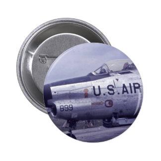 AIR FORCE SABRE JET F-86D PINBACK BUTTON
