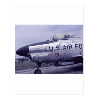 AIR FORCE SABRE JET F-86D POSTCARD