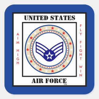 Air Force Senior Airman SrA E-4 Square Sticker