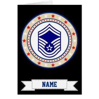 Air Force Senior Master Sergeant SMSgt E-8 Greeting Card