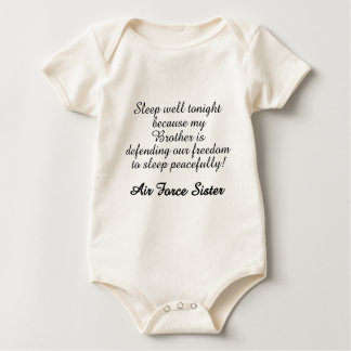 Air Force Sister Sleep Well Brother Baby Bodysuit