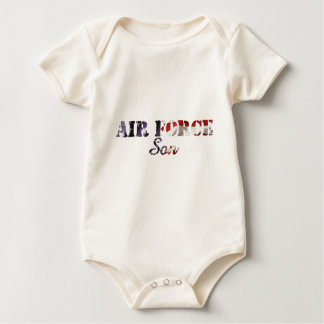 Air Force Son American Flag Baby Bodysuit