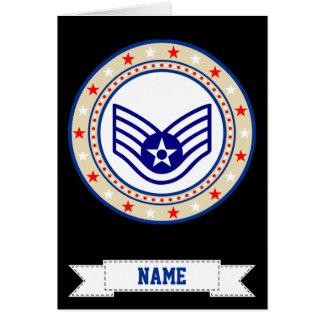 Air Force Staff Sergeant SSgt E-5 Greeting Card