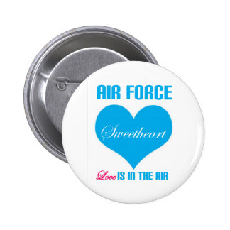 Air Force Sweetheart Love Is In The Air 6 Cm Round Badge