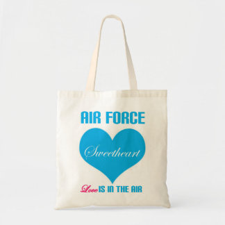 Air Force Sweetheart Love Is In The Air Budget Tote Bag
