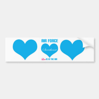 Air Force Sweetheart Love Is In The Air Bumper Sticker