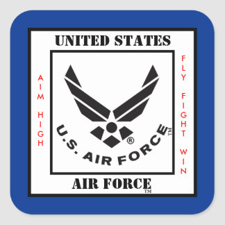 Air Force Symbol Square Sticker
