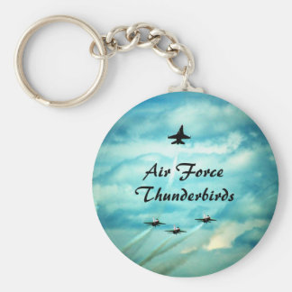 Air Force Thunderbirds II Basic Round Button Key Ring
