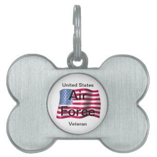 Air Force Vet Pet Tag